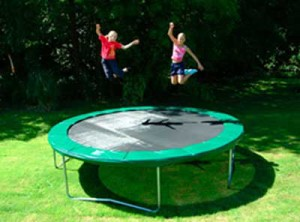Jump on a trampoline exercise