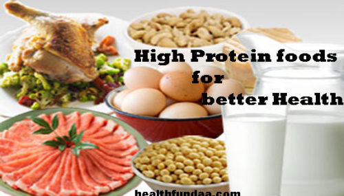 High Protein Foods for better Health