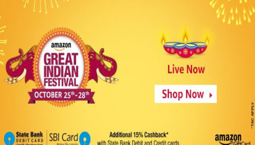 Amazon Great Indian Festival Sale 25th – 28th Oct 2016