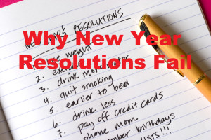 New Year Resolutions fail