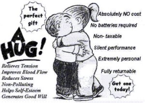 Hugging makes you happy and healthy Hug Day
