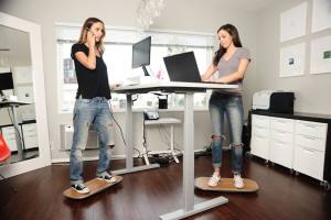 Create a standing desk exercise