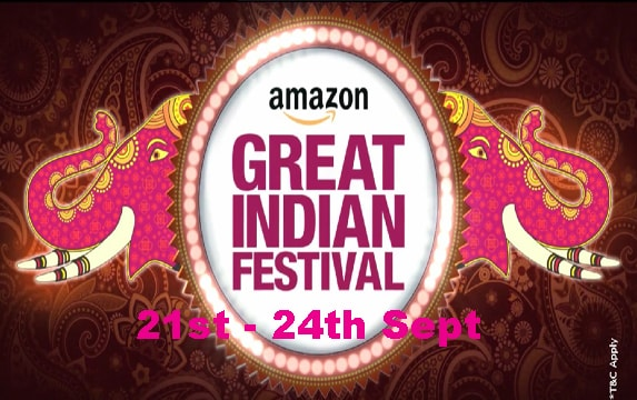 Amazon Great Indian Festival Sale 21st – 24th Sep 2017
